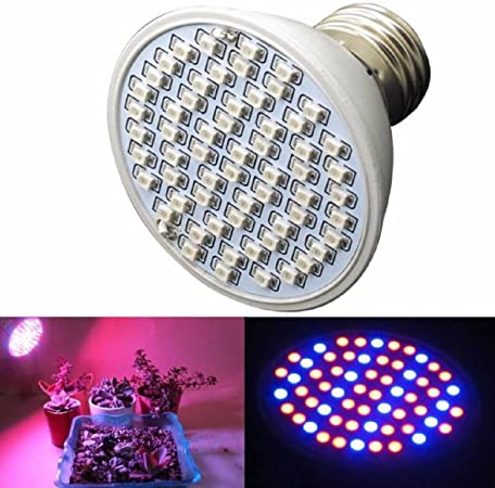 New 6W E27 60 LED Plant Grow Light Bulb Lamp for Garden Flowering