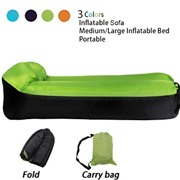 LOUTALA Tumbona hinchable sofá hamaca portátil hinchable ...