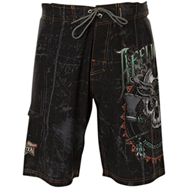 9b07fe1c1c Affliction Cherokee Skull Fashion Graphic Boardshorts for Men ...