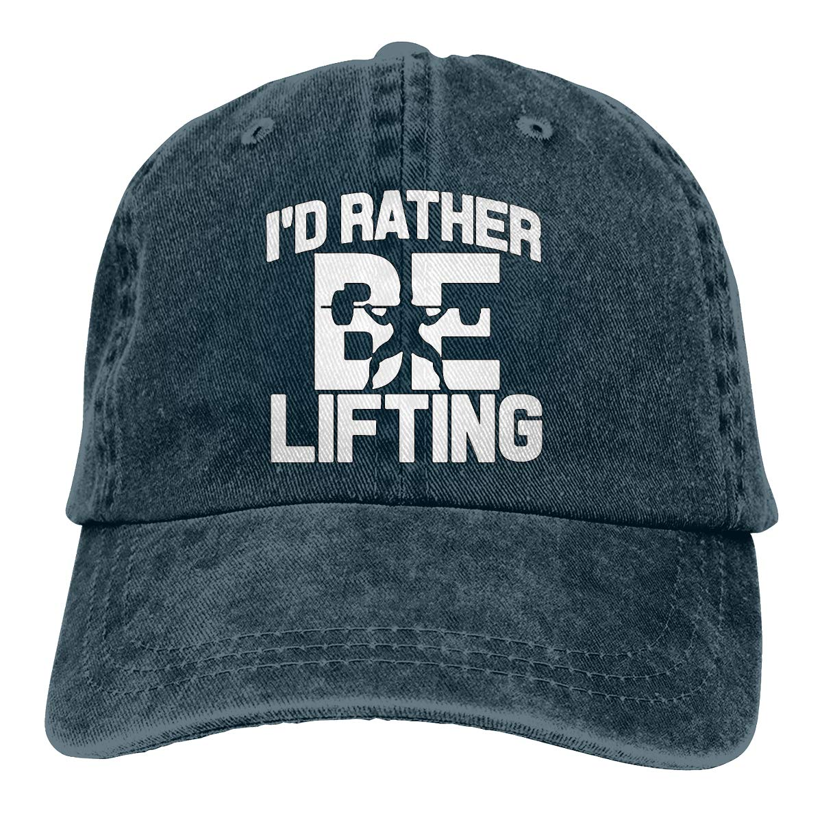 PMGM-C Id Rather Be Lifting Weight Adult Personalize Cowboy Hat Casquette Adjustable Baseball Cap