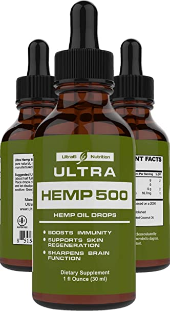 Hemp Oil for Pain Relief - Best Hemp Oil 500mg  Helps with Anxiety, Sleep,  Pain, Stress, and Overall