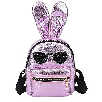 Bolso mochila mujer, ❤ Amlaiworld Moda Bolso de hombro de cuero para niñas Bolso
