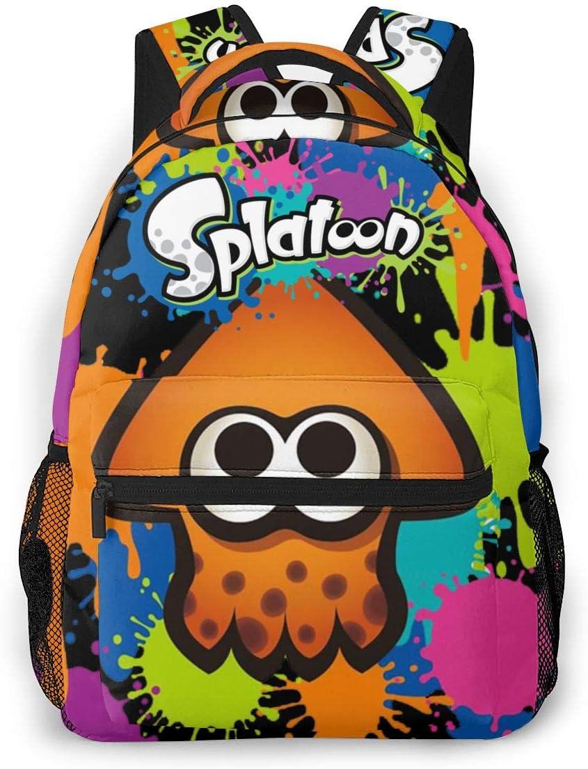 Inkling Lisa Splatoon Backpack Daypack Rucksack Laptop Shoulder Bag with USB Charging Port