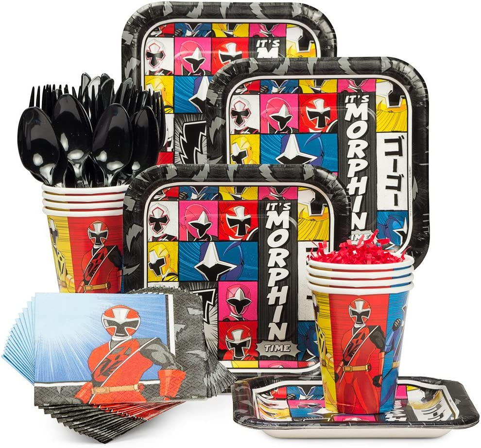 Costume Supercenter Power Rangers Ninja Steel Birthday Party Standard Tableware Kit