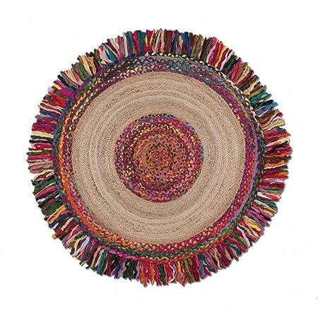 Diseñador Round Rug | Alfombra de Yute Tejida a Mano para ...