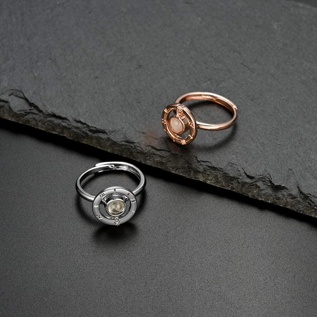Anello di Cristallo delle Ragazze delle Donne di Cristallo Anello di Rame Mini Retro Regalo dei monili Mano Portatile