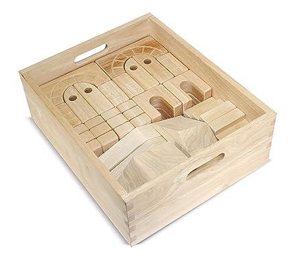 Ordinaire Melissa U0026 Doug Architectural Wooden Unit Block Set With Storage Crate (44  ...