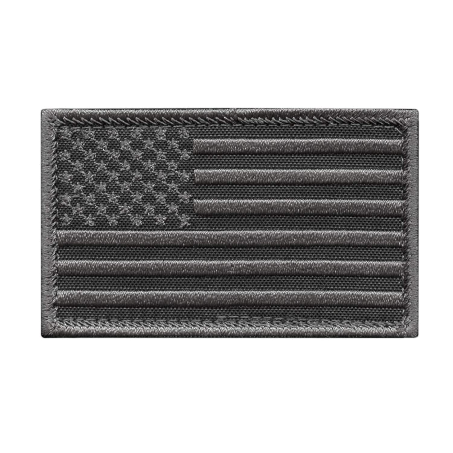 2AFTER1 USA American Flag 2x3.25 Subdued Stars and Stripes Tactical Morale Hook/&Loop Cap Patch