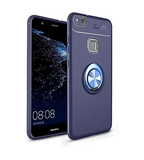 Ququcheng Funda Huawei P10 Lite,Carcasa Huawei P10 Lite Silicona Cover+Pantalla de Vidrio Templado Absorción de Choque Resistente Caso Skin Carcasa ...