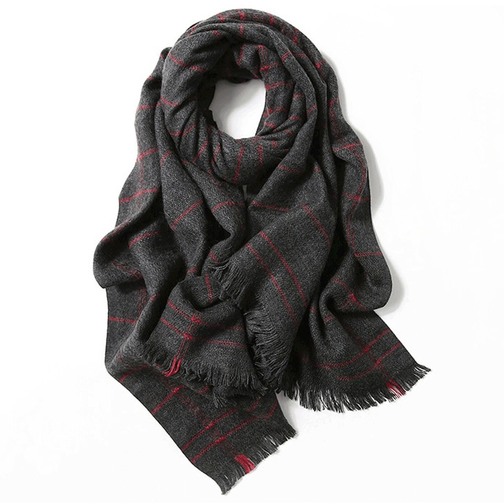 B LBY Outdoor Sunscreen Shawl Scarf Dualuse Autumn and Winter Thick Warm Office Shawl Stripes Scarf (color   A)