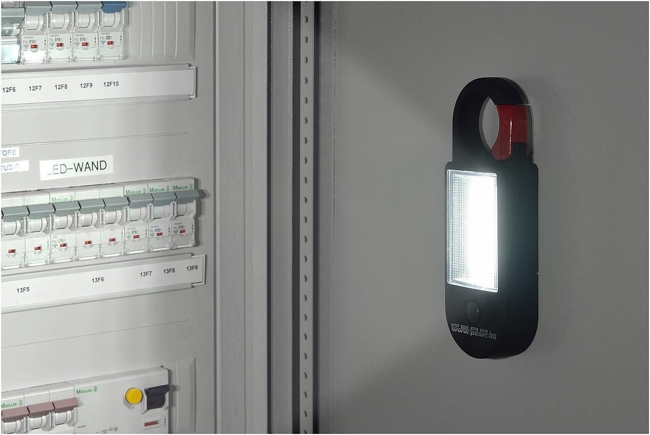 320 lm Magnet Karabiner-Haken PEARL LED Arbeitslampe: Arbeitsleuchte AL-325 mit COB-LED 4W LED Lampe mit Magnet