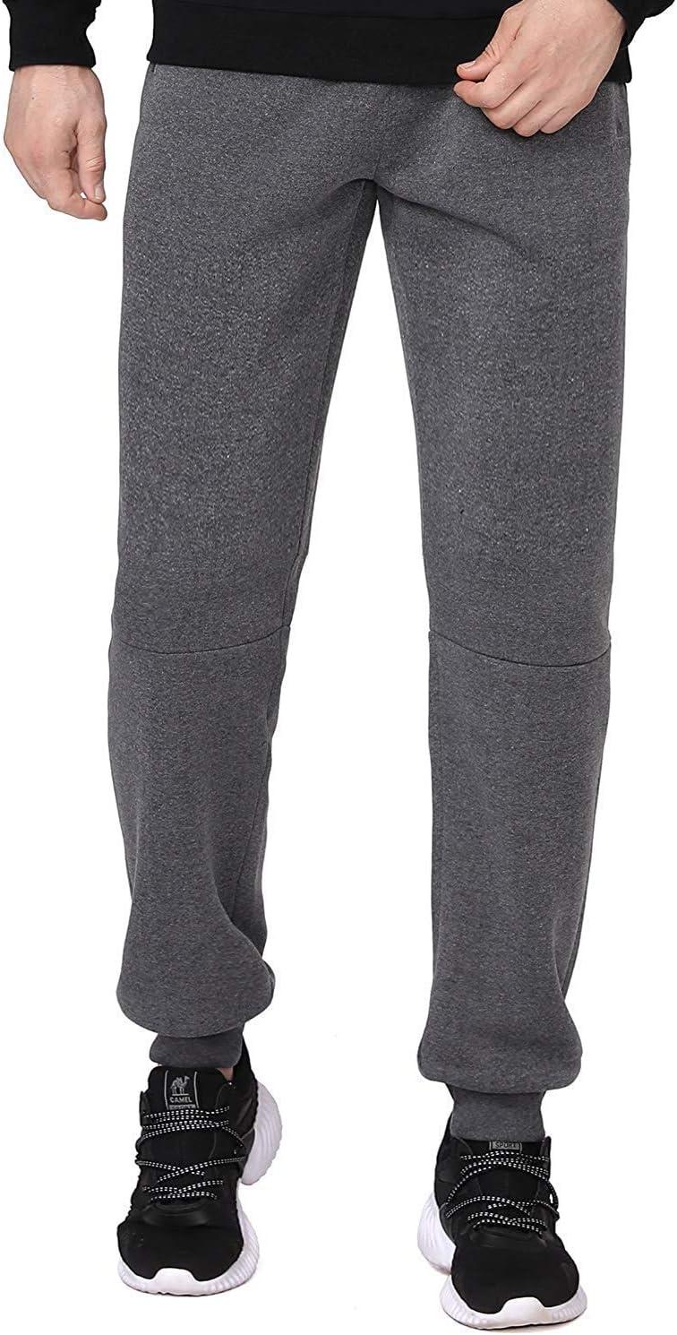 CAMEL CROWN Pantalon de Jogging pour Hommes avec Poches Cordon Souple Pantalons de Sport Pantalon de Surv/êtement D/écontract/é pour Gymnastique Course /à Pied Entra/înement en Plein Air