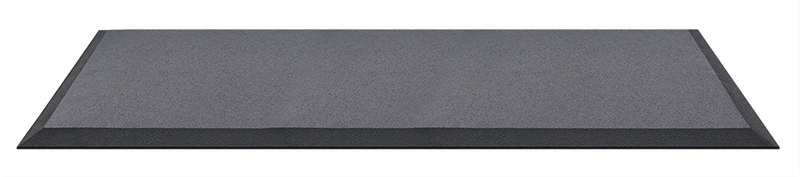 Anti Fatigue Mat, Black - Standing Desk Mats, Commercial Grade Anti-fatigue Comfort Kitchen Floor Mats perfect for Standup Desks, Kitchens, and Garages (24''x72'') by Pashley