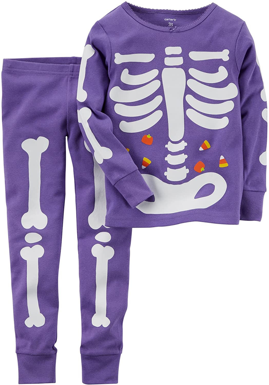 amazoncom carters baby girls 12m 24m 2 piece glow in the dark pajamas clothing