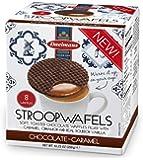 Daelman's Chocolate Caramel Stroopwafels 10.23 Ounce Cube (8 Waffles)