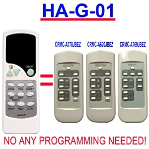 Replacement for GE Window Air Conditioner Remote Control (HA-G-01)