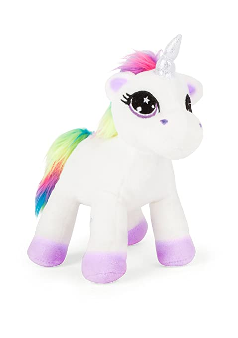 Michel Toys 10758 Unicornio de peluche, color blanco