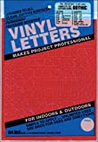 """Duro Decal Permanent Adhesive Vinyl Letters & Numbers: 3/4"""" Gothic Red"""