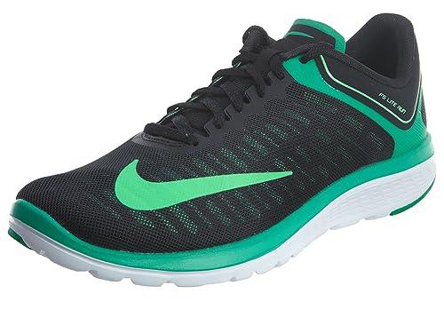 faf4593348b6d Nike Men s FS Lite Run 4 Running Shoe Black Green White Size 9 M US ...