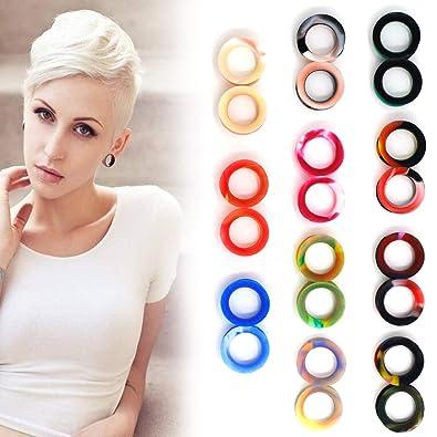 Kit de estiramiento de orejas de oreja con color mixto, túnel de carne flexible Ampliar