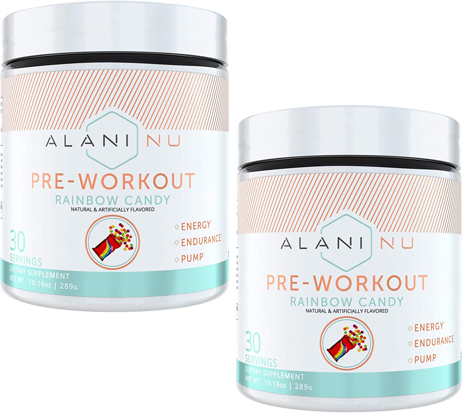 Alani Nu Pre-Workout – Rainbow Candy 2 Pack