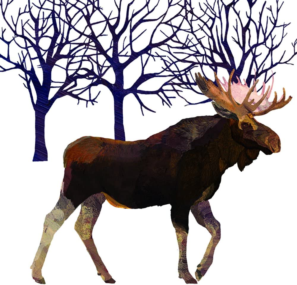 Paperproducts Design Winter Solstice Moose Beverage Napkin, Patti Gay/Two Can Art, Multi-Color