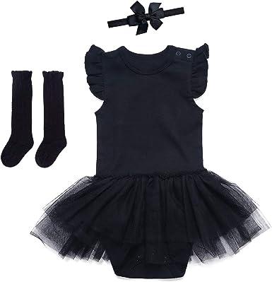 FREE SHIPPING My little black dress bodysuit with black tulle tutu
