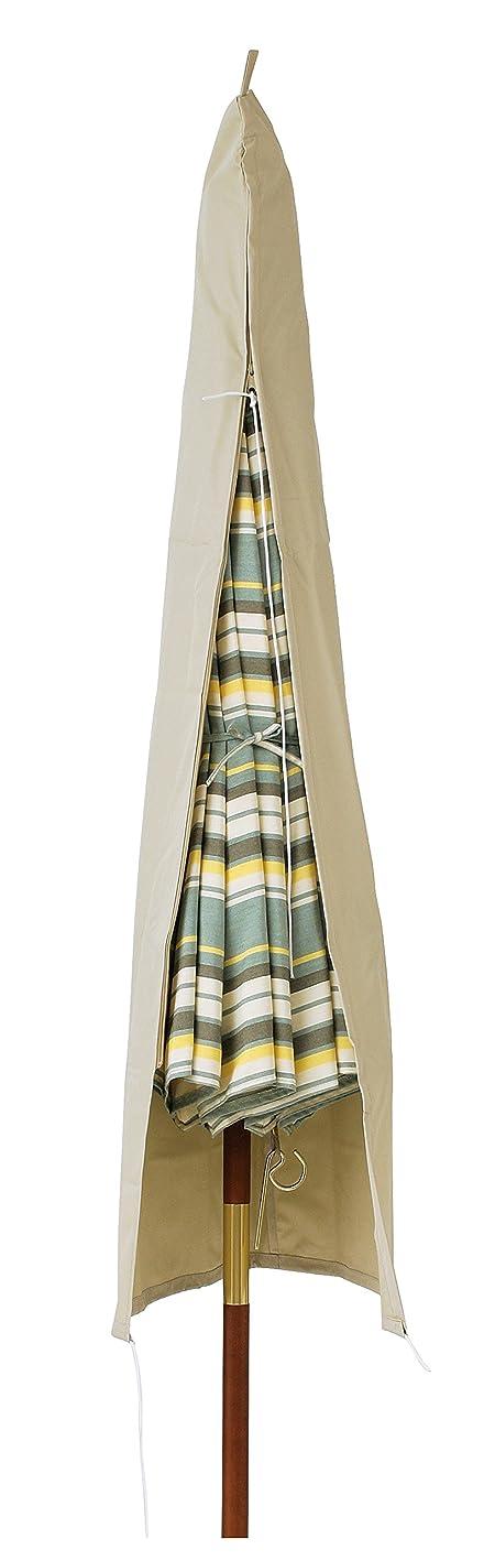 私たちのスリンクバトル不二貿易 木製パラソル 直径210cm アイボリー 60157