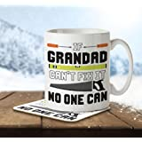 If Grandad Can't Fix It, No One Can - Mug and Coaster By Inky Penguin