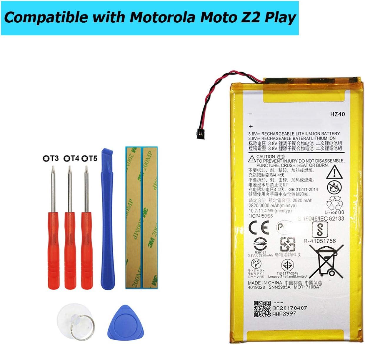Bateria Motorola Moto Z2 Play Xt1710-11 Xt1710-06 Snn5985a