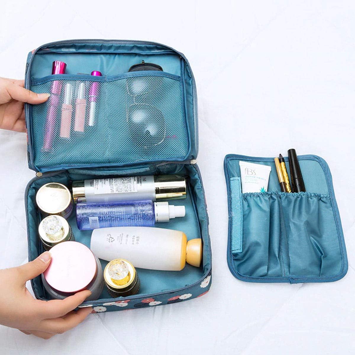 Misura: 22 x 17 x 8 cm Ducomi/® Travel Season Beauty Case Organizzatore Viaggio Unisex Borsa da Viaggio Blue