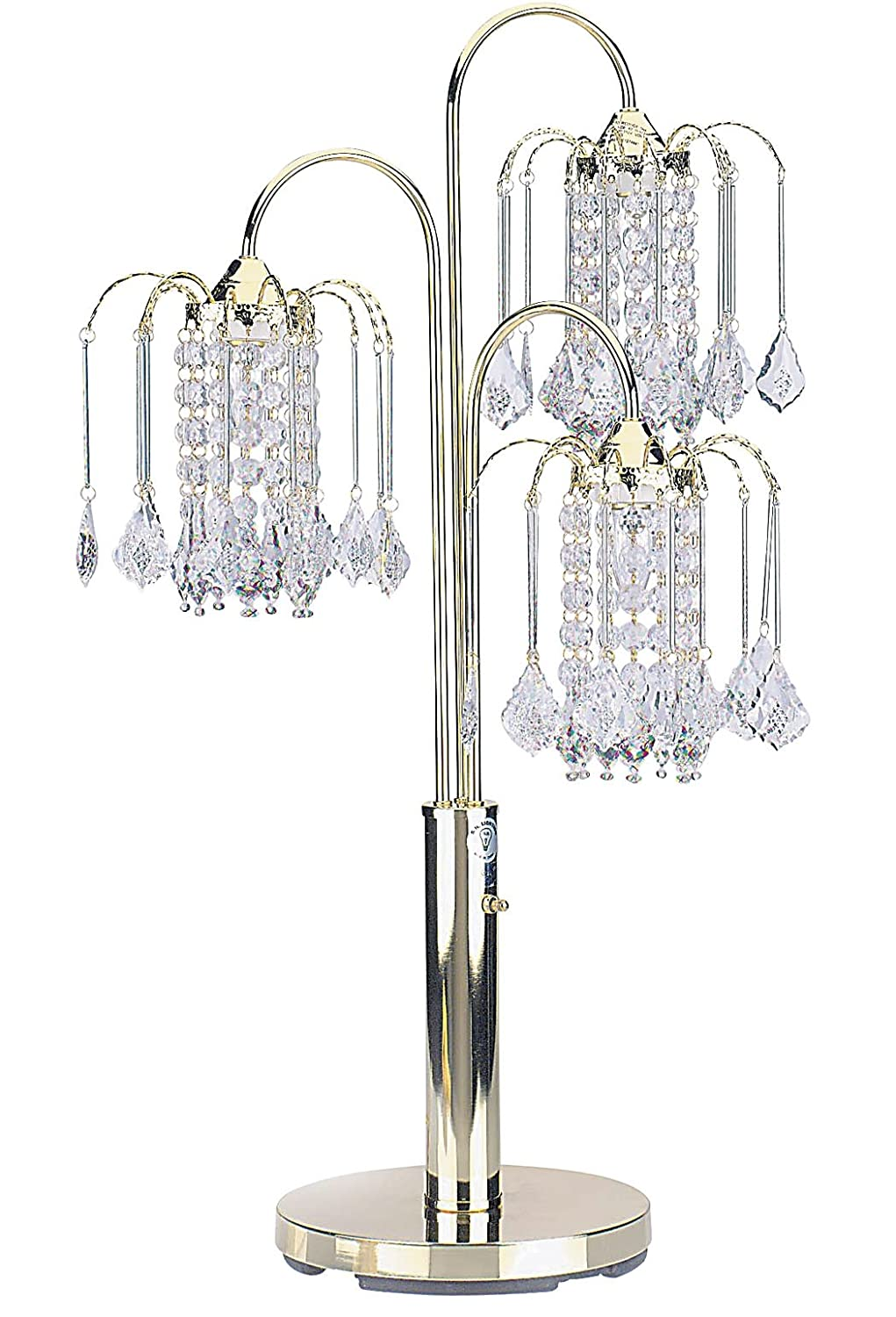 ORE International 716G Table Lamp With Crystal Like Shades, Polished Brass      Amazon.com