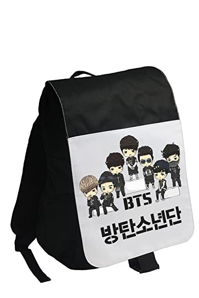 Amazon.com: BTS Kpop Backpack/school bag/Rucksack Fanmade super support + BTS pencil case 2 piece of BTS Lomo Card: Computers & Accessories