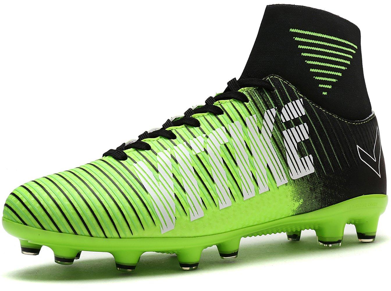 Kids Soccer Cleats Shoes Football Boots Cleats High-top Sock Shock Buffer Outdoor (Little Kid/Big Kid)