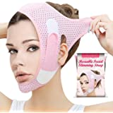 Double Chin Reducer Face Slimming Strap V Line Lifting Mask Chin Strap for Women and Men Anti-Wrinkle Face Mask for Double Ch