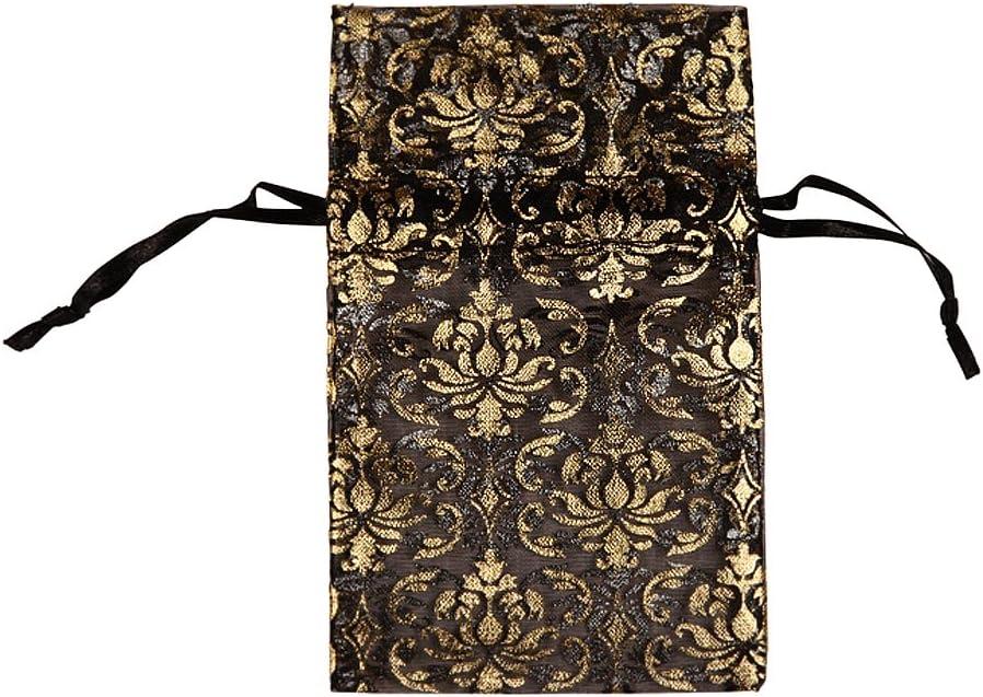 48 pcs Organza Gold Damask Jewelry Drawstring Pouches Gift Bags 3 x 4 inch