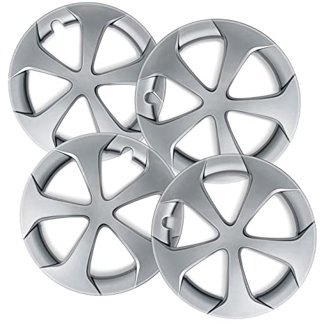 15 inch Hubcaps Best for 2012-2015 Toyota Prius C - (Set of 4) Wheel Covers 15in Hub Caps SIlver Rim Cover - Car Accessories for 15 inch Wheels - Snap On ...