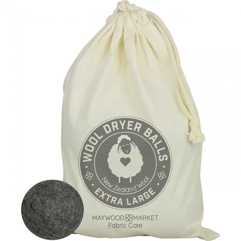 Set of 4 Extra Large New Zealand Wool Dryer Balls (Dark) in Bag