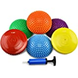Yes4All Set of 6 Balance pods with 3 New Shapes – Hedgehog, Rocky, Geometric Stability pods, Improve core Strength, Body Awar