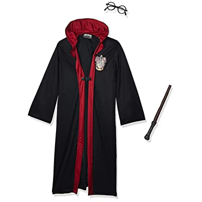 New Harry Potter Child's Costume Robe Wand Glasses Set: Toys & Games