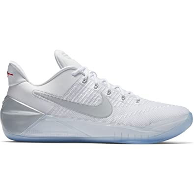 Nike Kobe A. D. Mens Basketball Trainers 852425 Sneakers Shoes (US 12,  white chrome 110