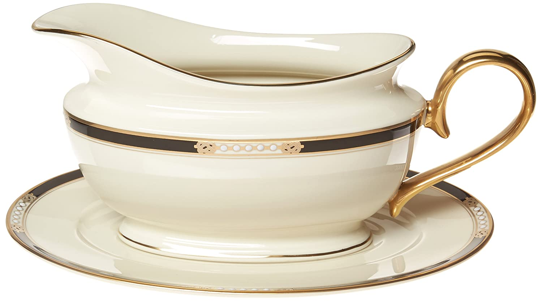 Lenox Hancock 9-Inch Gold-Banded Fine China Pasta//Rim Soup Bowl 6042360