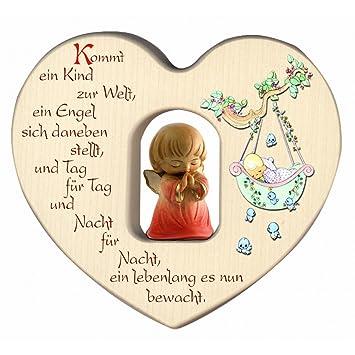 Herz für Mädchen mit Schutzengel zur Geburt / Dekoration ...