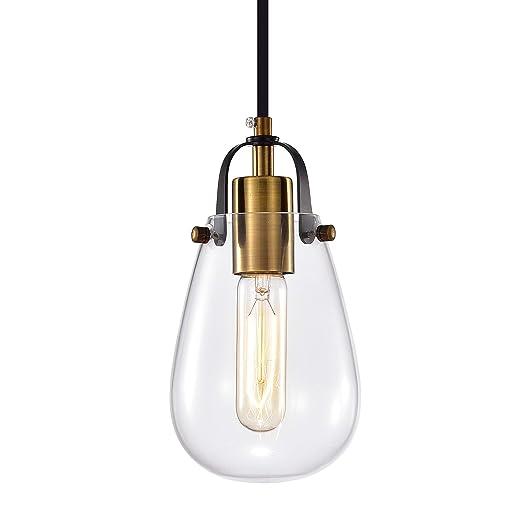 Amazon.com: Lámpara de techo de cristal con 1 luz moderna ...