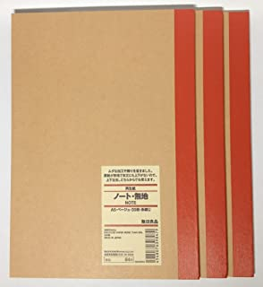 Amazon.com : MUJI Notebook A5 6mm Rule 30sheets - Pack of 5books ...