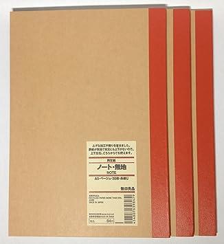 無印良品グラフ-紙ノートブック a6 a5 b5 30 シーツ quadrille ルール日本送料