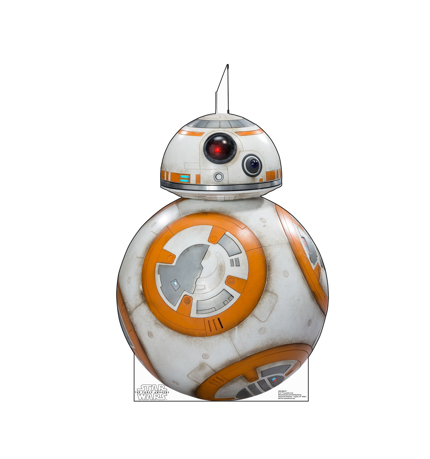 Advanced Graphics BB-8 Life Size Cardboard Cutout Standup - Star Wars Episode VII: The Force Awakens