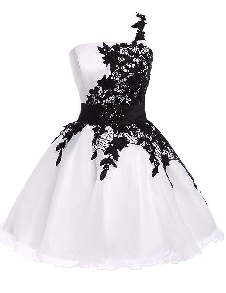 Quissmoda vestido corto largo fiesta, noche, gala, talla 48, color blanco