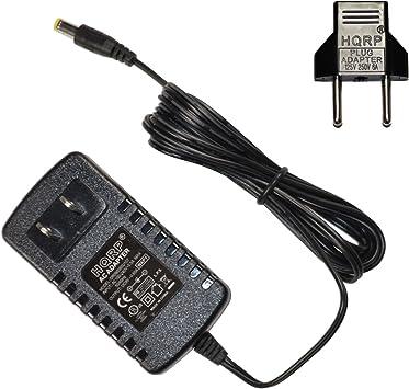 HQRP Adaptador de CA para Casio CT450, CT460, CT470, CT510, CT605, CT607, CT615, CT620, CT625 Teclado más Adaptador de Enchufe Europeo