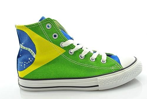 93f74595bbd CONVERSE - High Heels Converse All Star Chuck Taylor Print Brazilian Flag  343772C - 343772C -